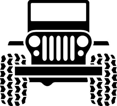 jeep front logo details about jeep logo vinyl decal wrangler cherokee tj