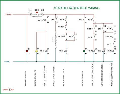 star delta wiring diagram refrigeration air conditioning