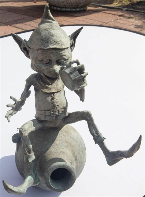 jackpot bronze imp  goblin water fountain sculpture  david goode  sale  stdibs