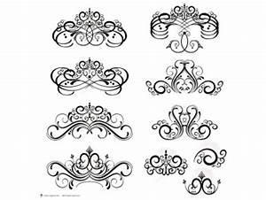 Digital Flourish Clip Art Vintage Flourish Swirls Design ...