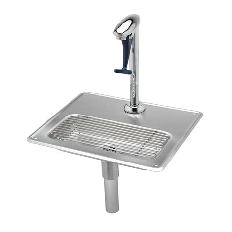 restaurant faucets kitchen t s b 1230 water station 10 5 in push back glass filler