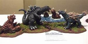 Godzilla Anguirus Varan Baragon Sculptures 2001 by ...