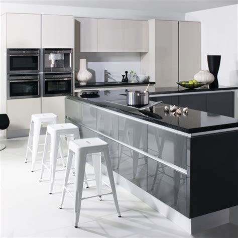grey gloss kitchen cabinets grey kitchens ideas 4064