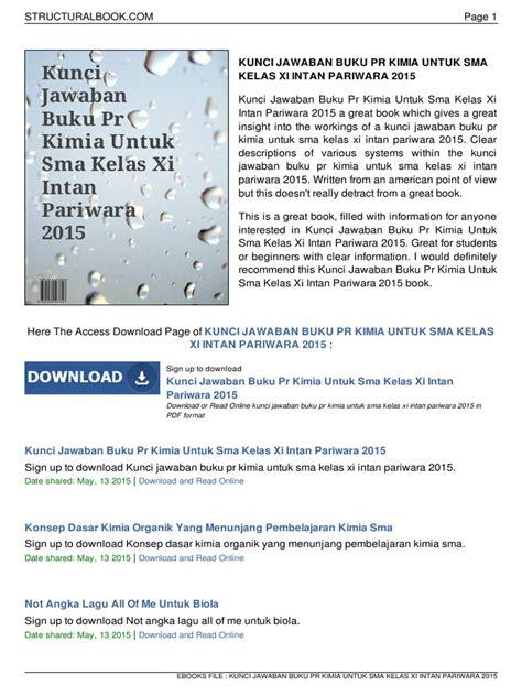 Berikut ini adalah link download kunci jawaban lks intan pariwara kelas 10 semester 2 revisi 2017. Kunci Jawaban Buku Pr Kimia Untuk Sma Kelas Xi Intan ...