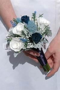 Shop Real Touch White & Dark Blue Rose Mini Posy Wedding ...
