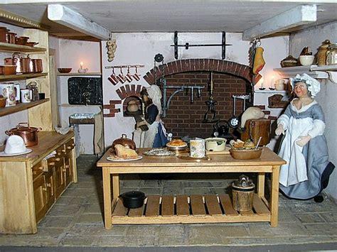 georgian dollhouse kitchen  aga
