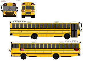Flat Front School Bus Side View