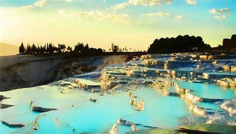 Natural Rock Pools Pamukkale Turkey Facts Pod