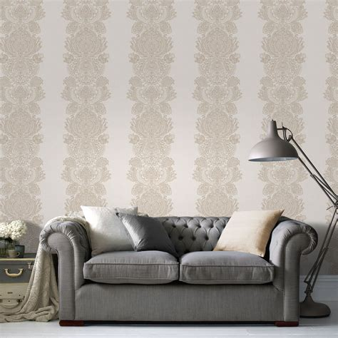 cream gold effect grandeur wallpaper departments diy