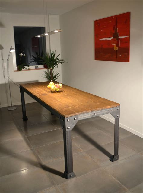 table cuisine style industriel table cuisine style industriel collection avec decoration