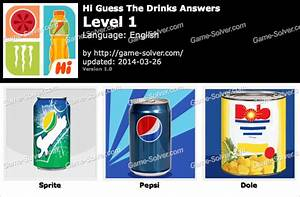 Hi Guess The Drinks Answers - Game Solver