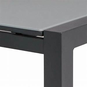 Table De Jardin Aluminium Et Verre : table extensible alu anthracite et verre gris 220 330x106 cm murray ~ Teatrodelosmanantiales.com Idées de Décoration