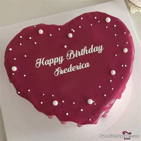happy birthday frederica cakes cards wishes