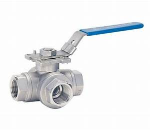 3 Way Ball Valve Stainless Steel - H4t