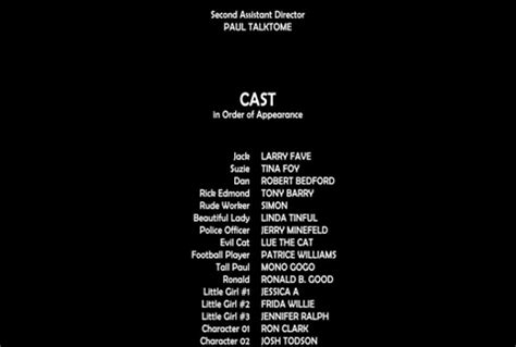 film credits after effects rolling closing credits 4k big production 40298170