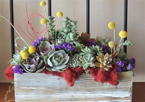 succulent wedding bouquets centerpieces  urban