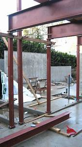 steel-beam-and-column-frame-connected-to-concrete-slab ...