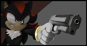 Shadow and his gun by limirina on DeviantArt