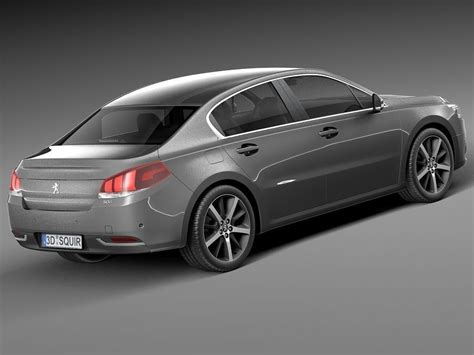 peugeot 2015 models peugeot 508 sedan 2015 3d model max obj 3ds fbx c4d lwo lw