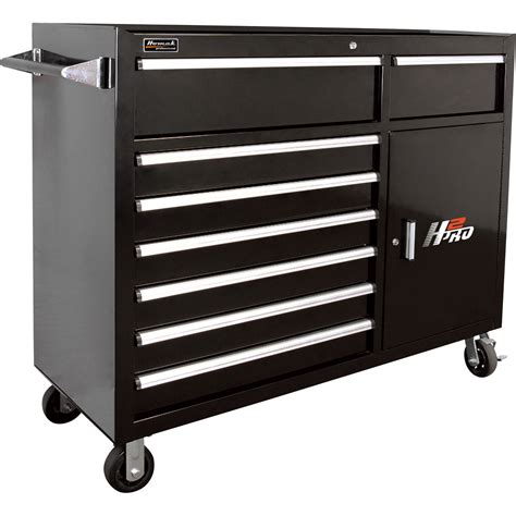 roller cabinet tool box homak h2pro 56in 8 drawer roller tool cabinet with 2