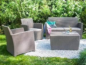 Canapé Jardin Pas Cher : petit canape exterieur salon de jardin super u inds ~ Premium-room.com Idées de Décoration