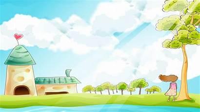 Ppt Background Cartoon Backgrounds Children Rural Powerpoint