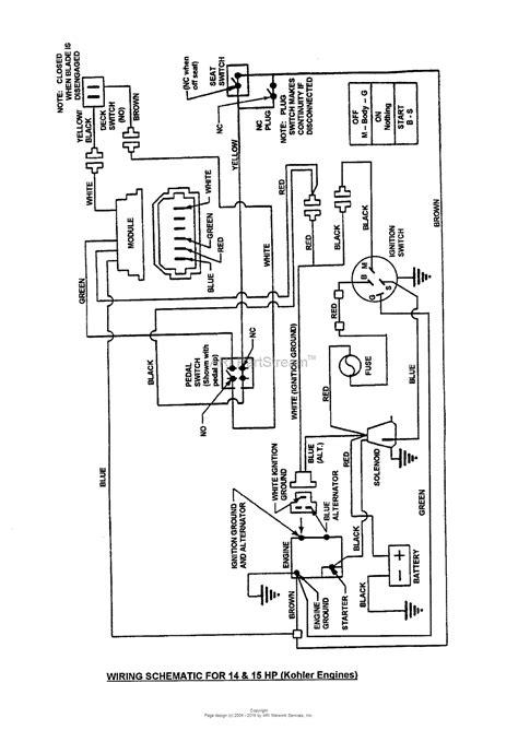 Kohler 10 Hp Wiring Diagram by Kohler Engine Ignition Wiring Diagram Electrical Website