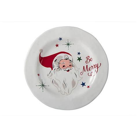 vintage holiday santa claus melamine salad plate bed bath