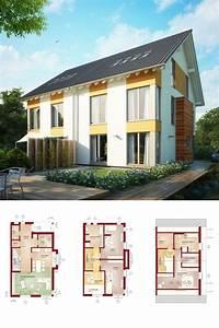 Haus Mit Satteldach : modernes doppelhaus mit dachgeschoss 3 etagen haus celebration 131 v4 xl bien zenker ~ Watch28wear.com Haus und Dekorationen
