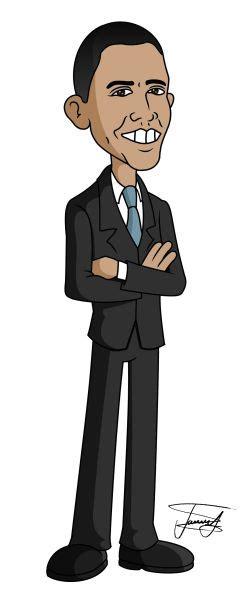 barack obama cartoon caricature httpdunwayus