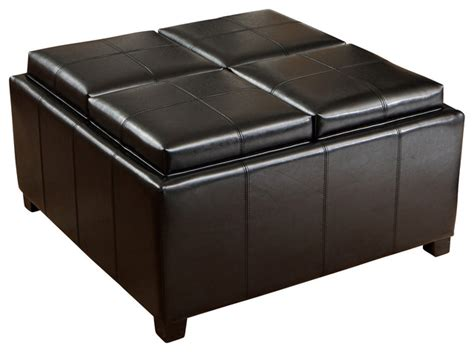 cube ottoman with tray durango 4 tray top storage ottoman coffee table
