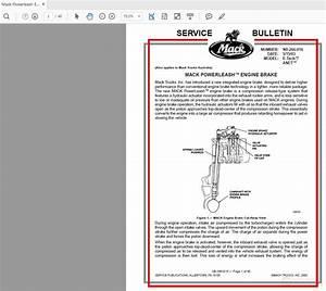 Mack Powerleash Engine Brake Service Bulletin