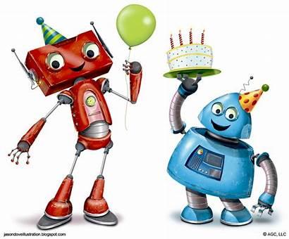 Robots Clipart Robot Birthday Happy Jason Characters