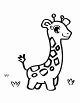 Giraffe Coloring Pages sketch template