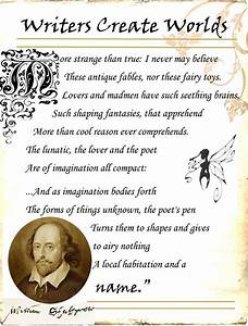 Shakespeare ~ THE NAMING of AIR. . .The forms of things ...