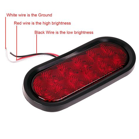 Led Boat Trailer Lights Oval by 2 Trailer Truck Led Flush Mount 6 Quot Oval Stop Turn