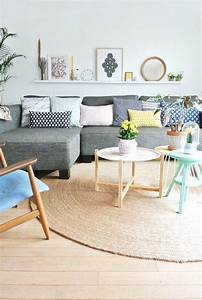 83 photos comment amenager un petit salon coussin With mur couleur lin et gris 7 le style scandinave trouver des idees de decoration