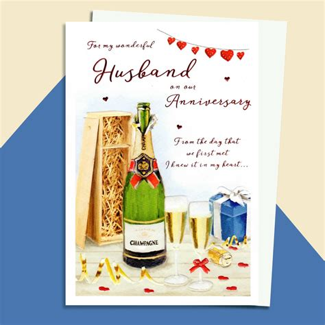 For example, the first event is the initial occurrence or, if planned, the inaugural of the event. Champagne Toast Husband Anniversary Card