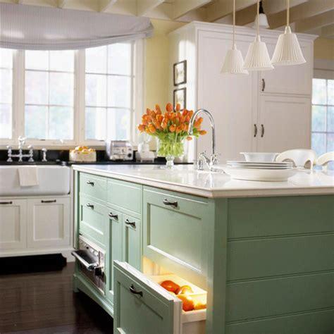 White kitchen cabinet with blue backsplash, kitchen island