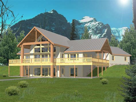 stonepeak rustic  frame home plan   house plans
