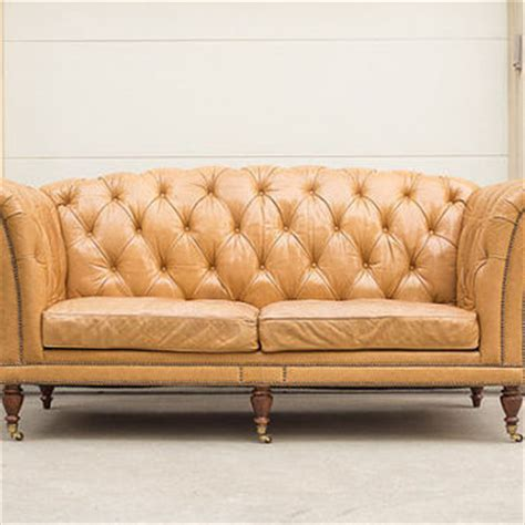 high back grand waxed leather tufted from homesteadseattle on