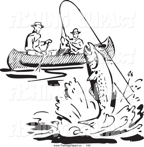Fishing Boat Clipart Black White by Royalty Free Black And White Retro Clipart Stock Fishing