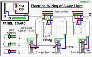 How To Wire Two Separate Switches And Lights Using The