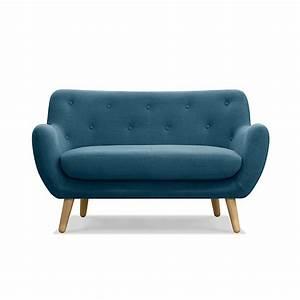 Canapé Scandinave Bleu : canap 2 places fixe esprit scandinave bleu p trole poppy meuble canapes fauteuils tous ~ Teatrodelosmanantiales.com Idées de Décoration