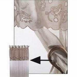 Rideau Brise Bise Lin Dentelle : rideau voile de lin dentelle fleurs d coration ~ Teatrodelosmanantiales.com Idées de Décoration
