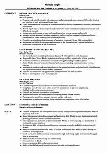 Medical Billing Manager Resume Practice Manager Resume Samples Velvet Jobs