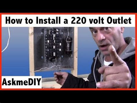 How Install Volt Outlet Youtube Electrical