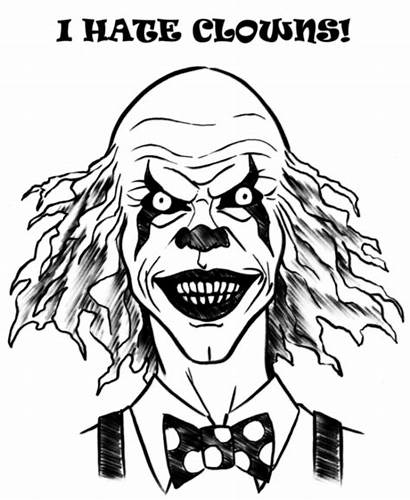 Scary Clown Draw Drawing Clowns Clipart Faces
