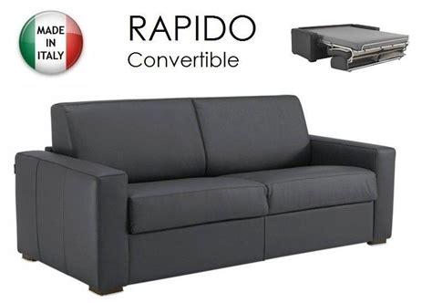 canapé rapido cuir canape convertible ouverture rapido 160cm dreamer cuir