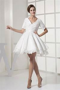 Short white dresses for wedding reception styles of for White short wedding dress